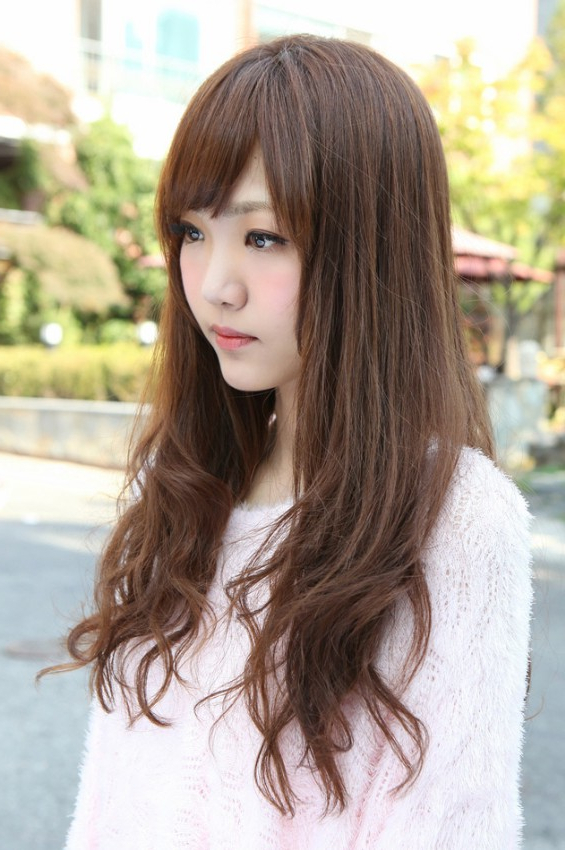 Side View Of Korean Long Hairstyle – Hairstyles Weekly With Korean Long Hairstyles (View 17 of 25)