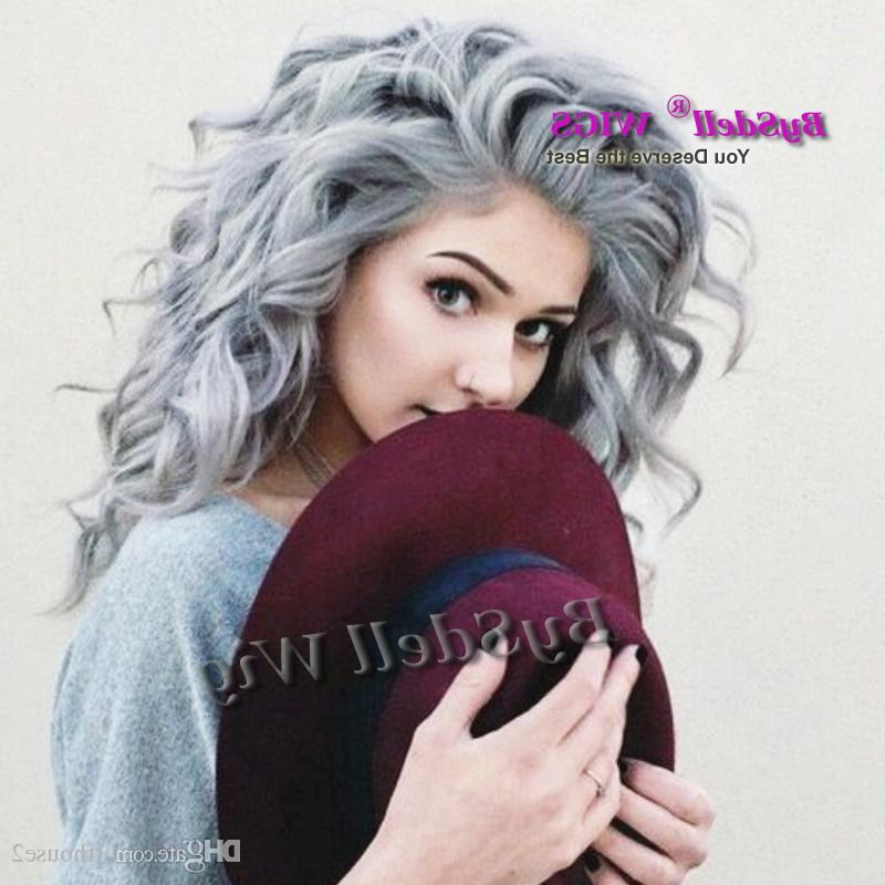Silver Grey Hair Long Curly Hairstyle White Gray Color Perruque Intended For Long Hairstyles For Grey Hair (View 18 of 25)