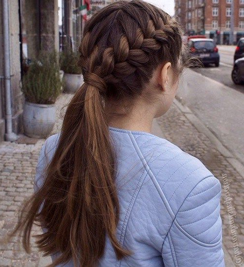 Simple Braided Hairstyles For Thick Hair Inside Braids For Long Thick Hair (View 3 of 25)