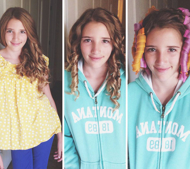Simple Holiday Hairstyles For Girls + Our Favorite Curlers Inside Curlers For Long Hair Thick Hair (View 17 of 25)
