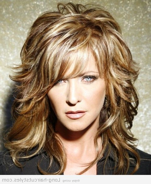 Simple Long Hairstyles For Older Women Bangs 2015 Pictures For Long Hairstyles Layered (View 12 of 25)