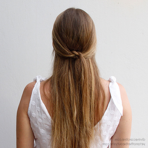 Simple Summer 'do: The Knotted Half Updo | More Throughout Long Hairstyles Half (View 20 of 25)