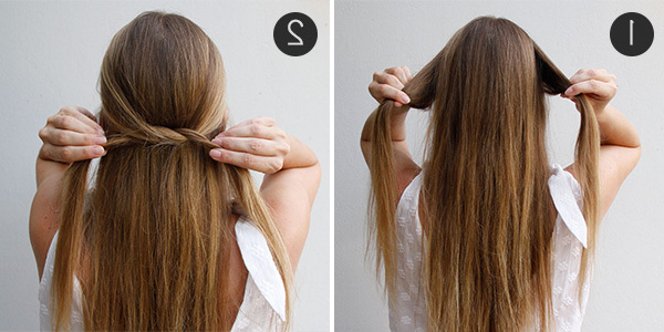 Simple Summer 'do: The Knotted Half Updo | More Within Half Up Hairstyles For Long Straight Hair (View 17 of 25)