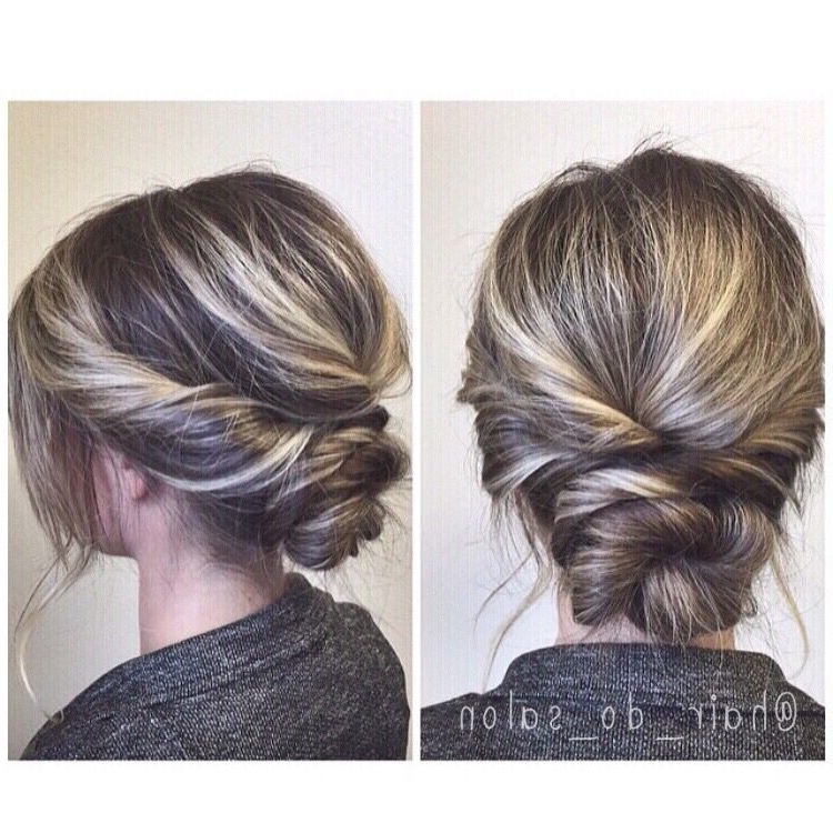 Simple Twisted Updo, Prom Or Wedding Hair | Hair | Hair Styles, Prom With Twisted Low Bun Hairstyles For Prom (View 5 of 25)
