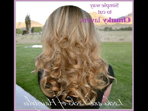 Simple Way To Cut Chunky Layers In Hair – Youtube With Regard To Chunky Layered Haircuts Long Hair (View 20 of 25)
