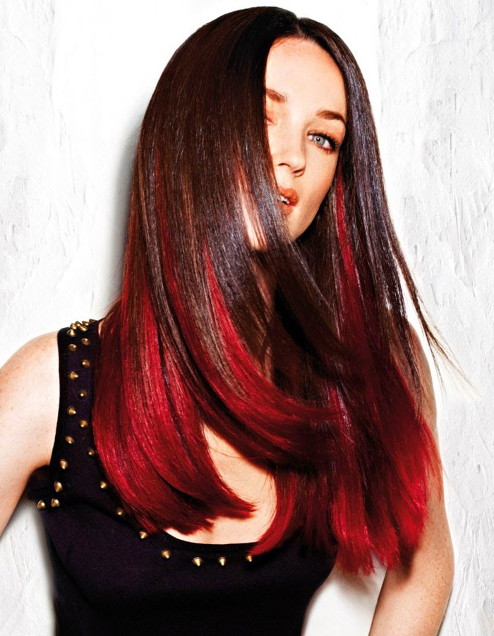Smoldering Red Long Hairstyles Spring Summer 2014   Haircuts And With Long Hairstyles Dyed (View 17 of 25)
