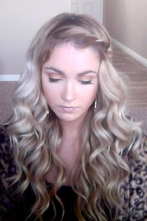 Soft Elegant Curls With A French Braided Deep Side Part | Hair Intended For Elegant Curled Prom Hairstyles (View 23 of 25)
