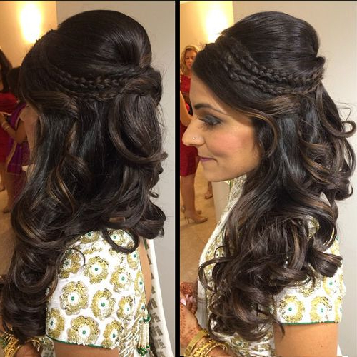 South Asian Indian Bridal Beauty – Nazia's Wedding | Hair In 2019 Intended For Long Hairstyles For Wedding Party (View 7 of 25)