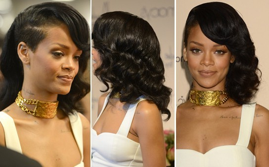 Special Bouncy Wavy Hairstyle: Rihanna Long Hair – Popular Haircuts With Long Hairstyles Rihanna (View 22 of 25)