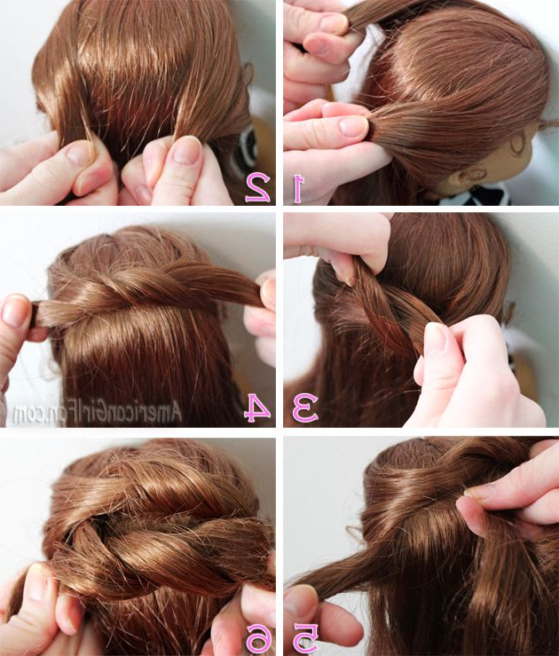 Steps To Do A Knotted Bun | Doll Hair Styling | American Girl Pertaining To Cute Hairstyles For American Girl Dolls With Long Hair (View 15 of 25)