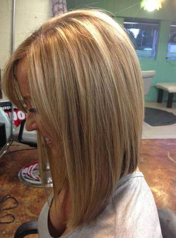 Straight Hair Inverted Bob Haircut, Bob Haircuts For Fine Hair Regarding Long Tapered Bob Haircuts (View 4 of 25)