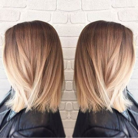 Straight Long Bob Haircut – Blunt Medium Hairstyles, Blonde Ombre Pertaining To Blunt Long Haircuts (View 20 of 25)