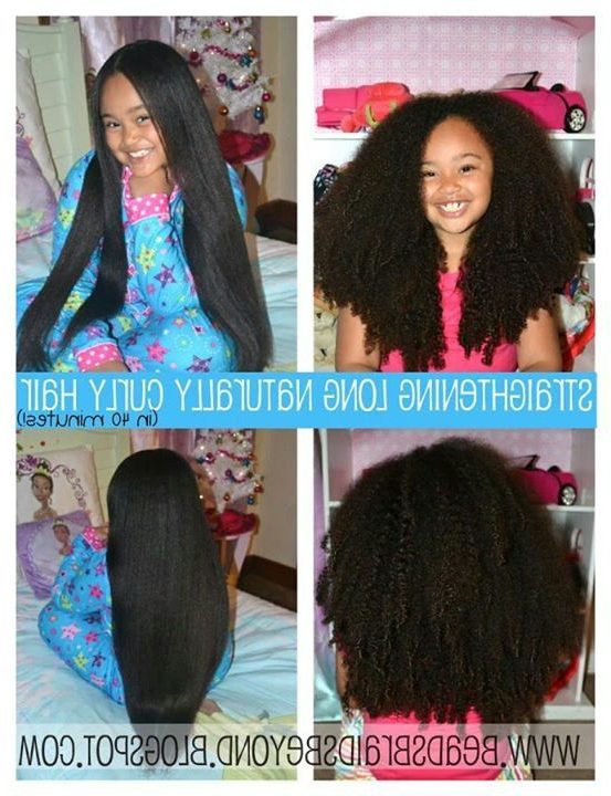 Straightening Extra Long Naturally Curly Hair In 40 Minutes Pertaining To Long Hairstyles Natural (View 10 of 25)