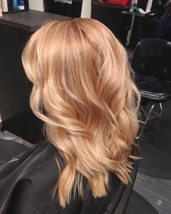 Strawberry Blonde Hair Medium Haircut Min | Ecemella In Long Feathered Strawberry Blonde Haircuts (View 11 of 25)