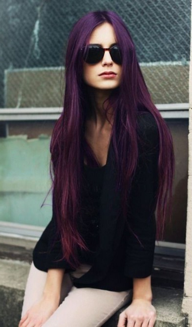 Stunning Purple Hair Trend For Women – Pretty Designs Within Purple Long Hairstyles (View 22 of 25)