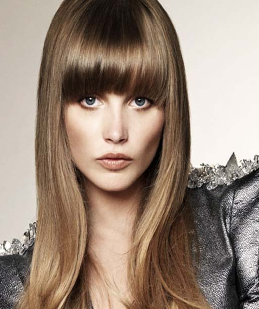 Style Full Fringe Hairstyles 2012 At Home Within Long Hairstyles With Full Fringe (View 17 of 25)