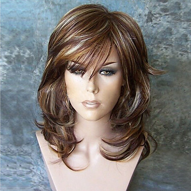 Synthetic Wig Curly Minaj Style Layered Haircut Capless Wig Burgundy Inside Long Feathered Strawberry Blonde Haircuts (View 16 of 25)