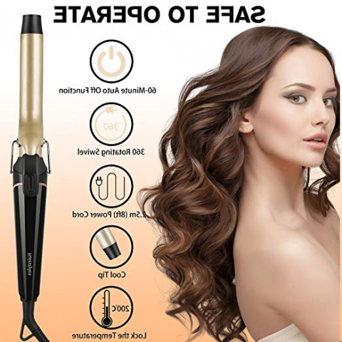 Terresa Curling Iron 1 Inch, Hair Curler Wand For Long Thick Hair Intended For Curlers For Long Thick Hair (View 22 of 25)