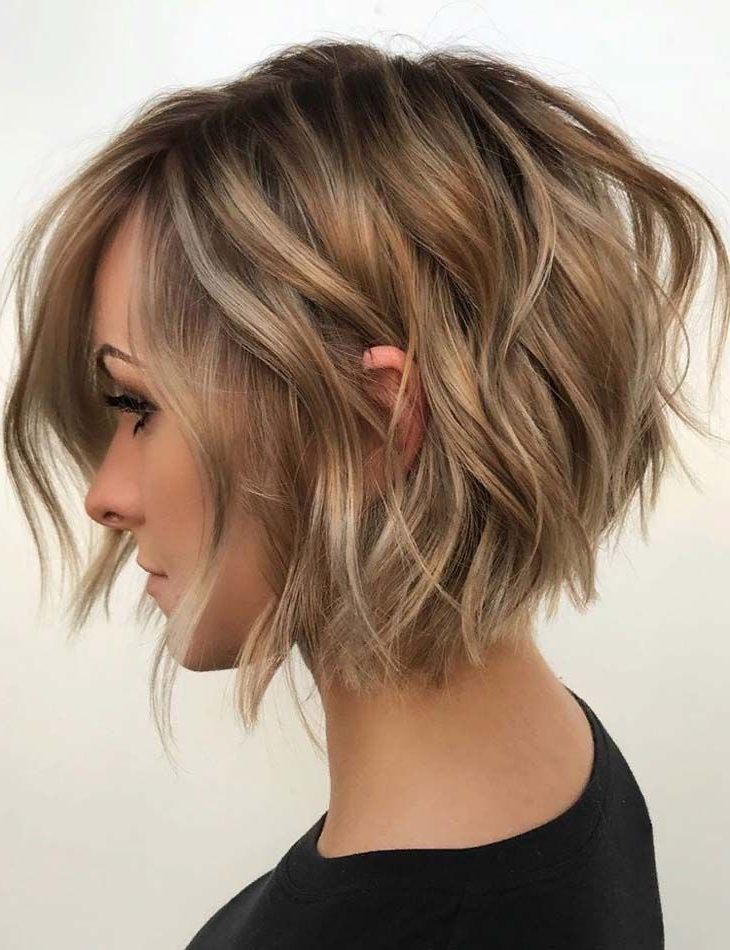 Textured Angled Bob Haircuts & Hairstyles In 2019 | Latest Hairstyle Intended For Blonde Textured Haircuts With Angled Layers (View 6 of 25)