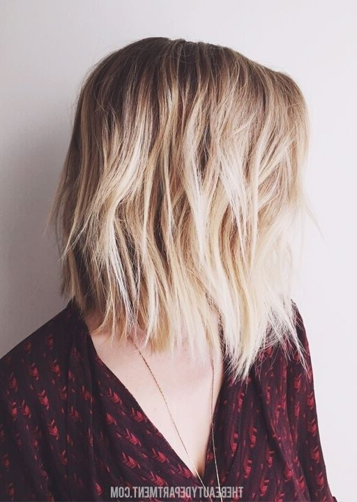 Textured, Shaggy Long Bob Haircut – Medium Hairstyle Ideas – Popular Intended For Textured Long Haircuts (View 14 of 25)