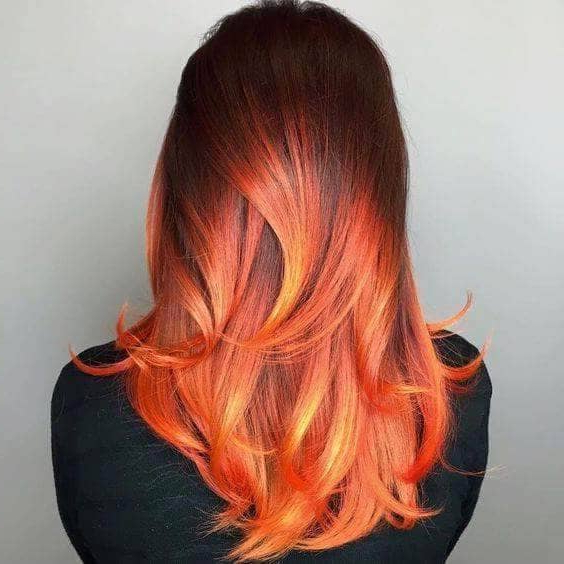 The 27 Hottest Red Ombre Hairstyles Intended For Long Hairstyles Red Ombre (View 8 of 25)