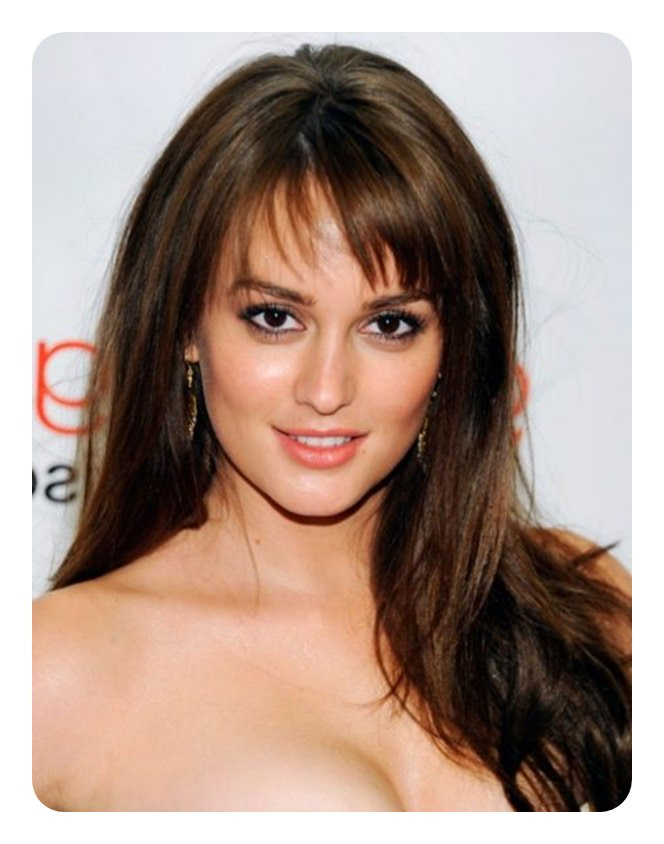 The 79 Sexiest Wispy Bangs To Inspire Your Makeover Pertaining To Side Swept Curls And Draped Bangs Hairstyles (View 15 of 25)