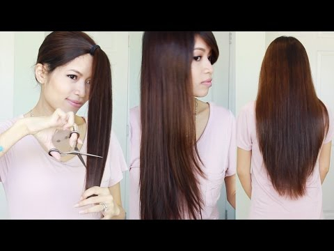 The Best Hair Hack ? How To Cut & Layer Your Hair At Home – Youtube Regarding Long Hairstyles At Home (View 7 of 25)