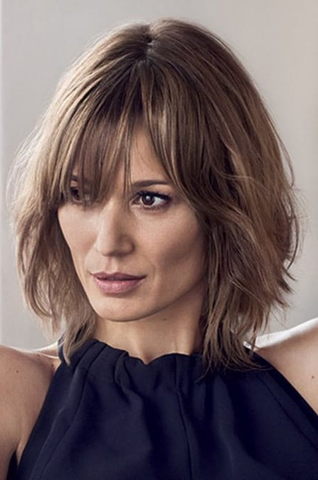 The Best Hairstyles For Women With Thin Hair – The Trend Spotter In Long Bob Hairstyles With Bangs (View 16 of 25)