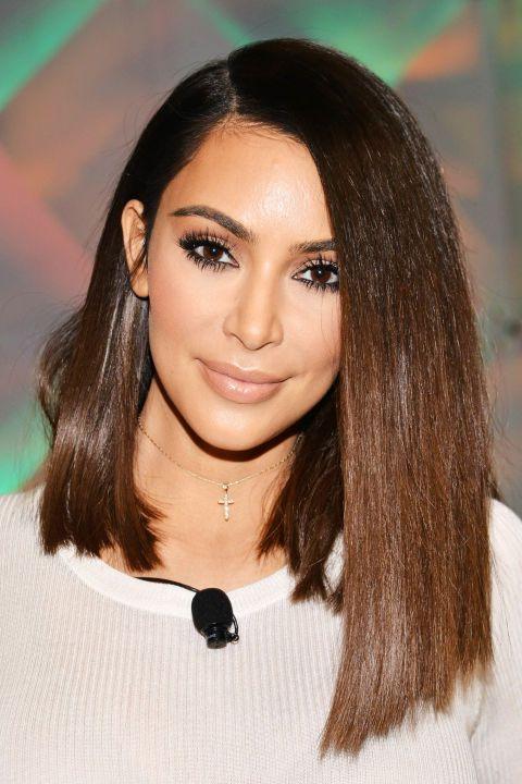 The Complete Evolution Of Kim Kardashian's Hair | Beauty: Hair | Kim In Long Bob Hairstyles Kim Kardashian (View 3 of 25)