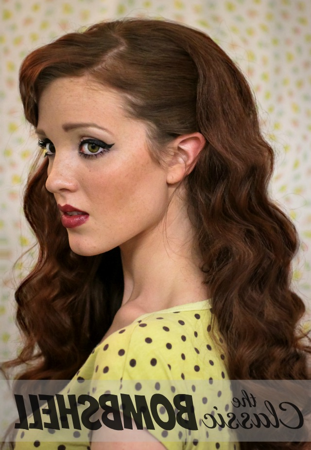 The Freckled Fox: Sweetheart Hair Week: Tutorial #1 – Classic Bombshell Regarding Long Hairstyles Pinned Up (View 24 of 25)