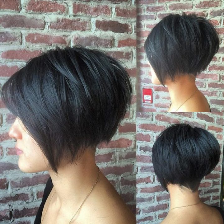 The Modern Bob Hairstyles With A Line (Short Back, Front Long – New Pertaining To Hairstyles Long Front Short Back (View 10 of 25)