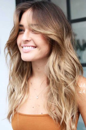 The Most Flattering 12 Haircuts For Square Faces | Lovehairstyles Pertaining To Long Hairstyles For Square Faces With Bangs (View 23 of 25)