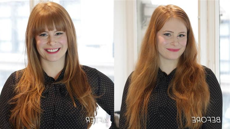 The Most Flattering Bangs According To Your Face Shape Intended For Long Haircuts For Long Faces (View 18 of 25)