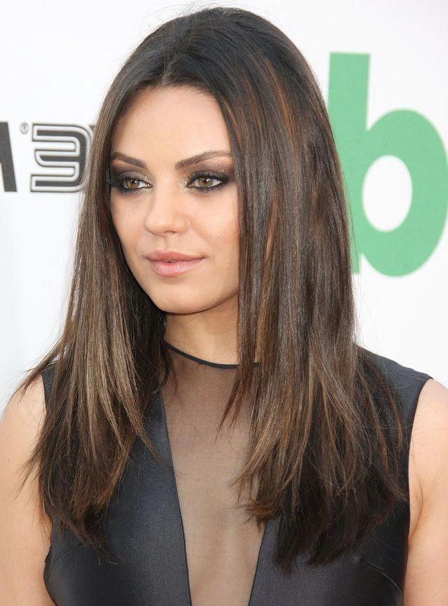 The Most Flattering Hairstyles Ever: Mila Kunis Hair: Long, Straight In Mila Kunis Long Hairstyles (View 13 of 25)
