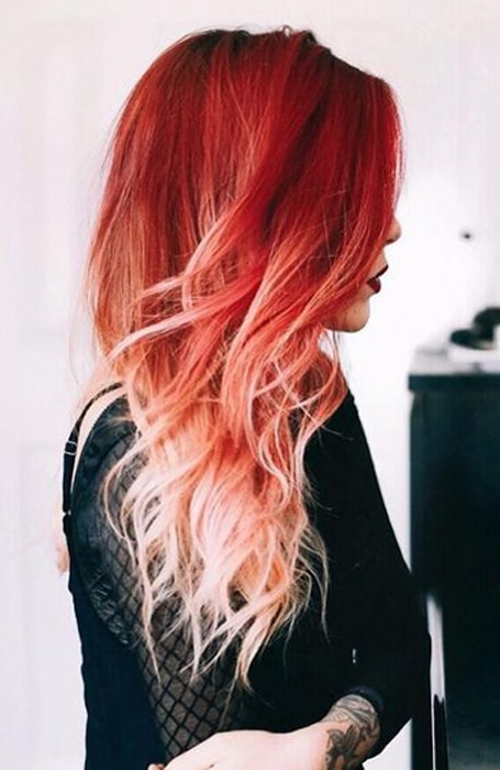 The Most Gorgeous Red Ombre Hair Ideas For Fiery Ladies Intended For Long Hairstyles Red Ombre (View 21 of 25)