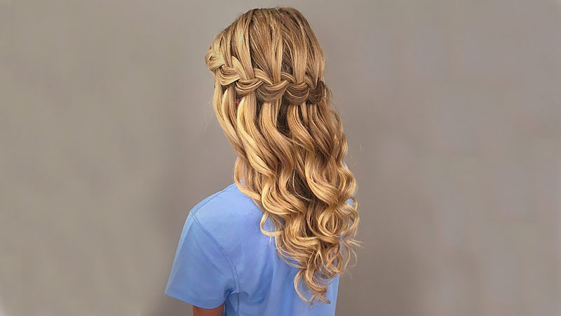 The Most Stunning Prom Hairstyles For 2019 – The Trend Spotter Regarding Cascading Curly Crown Braid Hairstyles (View 12 of 25)