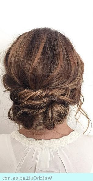 The Most Wanted Hairstyle For Brides, Low French Twist Throughout Twisted And Curled Low Prom Updos (View 2 of 25)