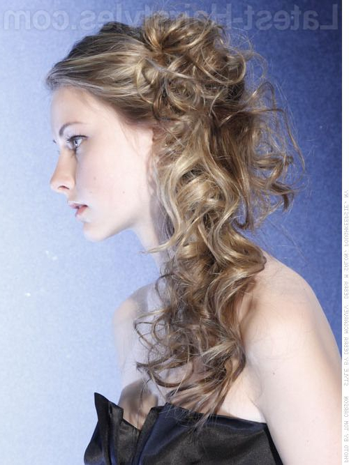 The Prettiest Half Up Half Down Wedding Hairstyles We've Ever Seen Inside Long Cascading Curls Prom Hairstyles (View 2 of 25)