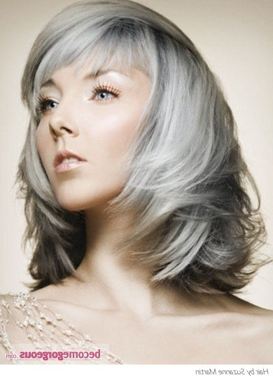 The Silver Fox: Stunning Gray Hair Styles | Bellatory Inside Long Hairstyles For Grey Hair (View 24 of 25)