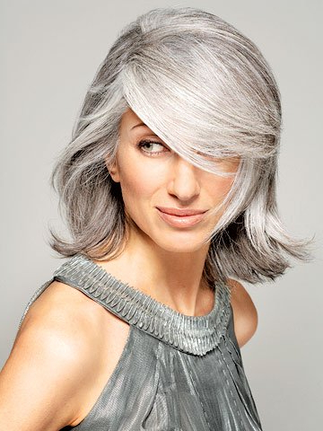 The Silver Fox: Stunning Gray Hair Styles | Bellatory Regarding Long Hairstyles For Grey Hair (View 12 of 25)