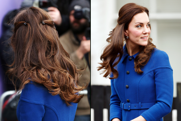 The Year In Kate Middleton's Hair, 2017 Edition Photos | Vanity Fair With Long Hairstyles Kate Middleton (View 11 of 25)