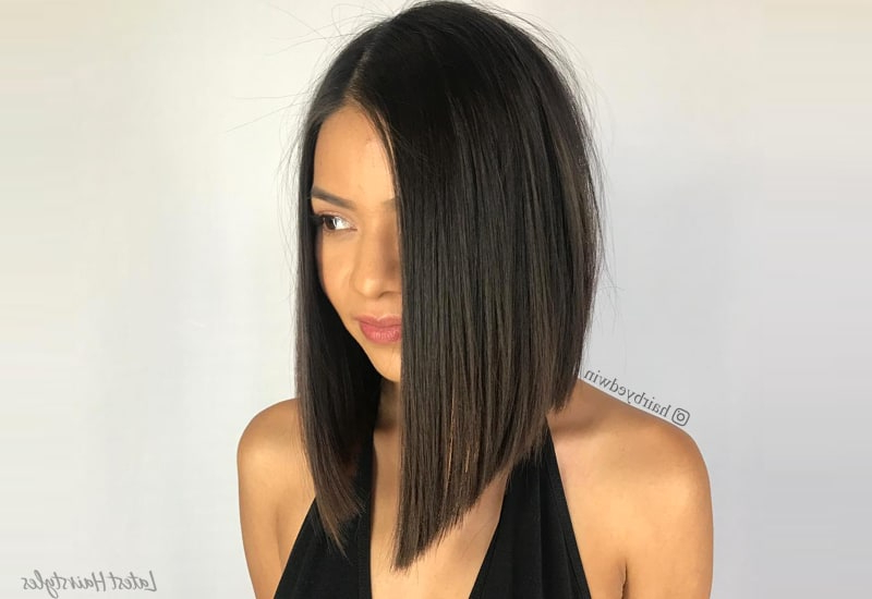 These 23 Inverted Bob Haircuts Are Trending In 2019 Pertaining To Long Hairstyles Bob (View 25 of 25)
