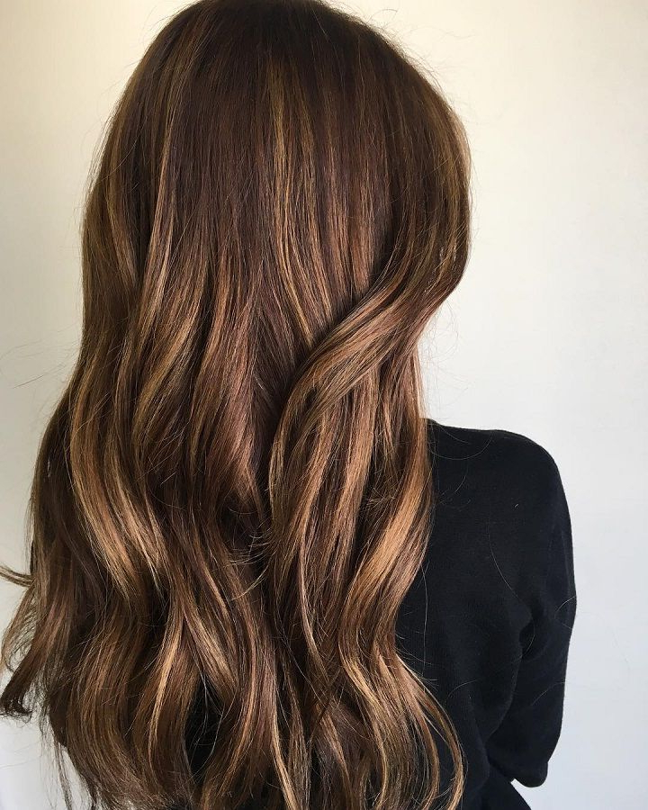 These Beautiful Brown Hair Color With Highlights You'll Want To Try Within Warm Toned Brown Hairstyles With Caramel Balayage (View 8 of 25)