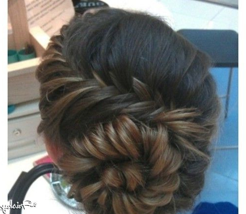 This Is Called A Snail Braid An Unattractive Name For A Beautiful For Fishtailed Snail Bun Prom Hairstyles (View 2 of 25)