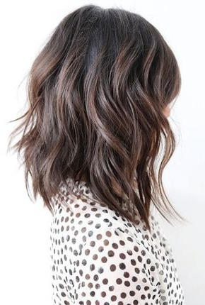 This Shoulder Length Cut Is Textured And Perfectly Exemplifies The In Medium Textured Layers For Long Hairstyles (View 8 of 25)