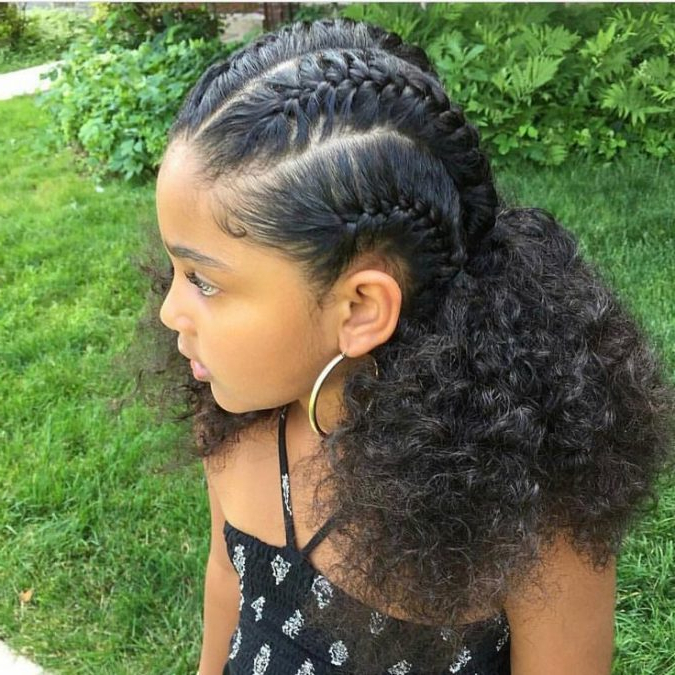 Top 10 Cutest Hairstyles For Black Girls In 2018 | Pouted In Long Hairstyles For Black Girls (View 25 of 25)