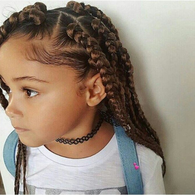 Top 10 Cutest Hairstyles For Black Girls In 2018 | Pouted Regarding Black Girls Long Hairstyles (View 24 of 25)