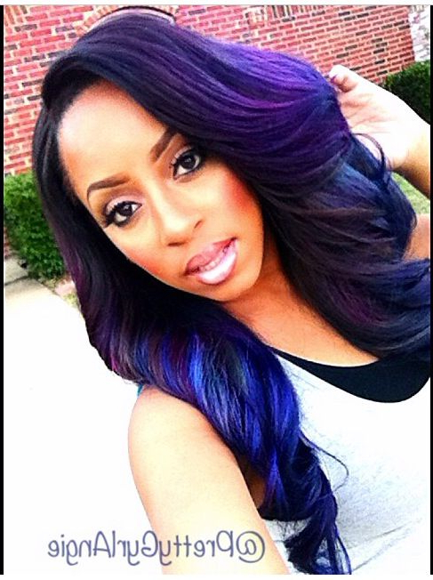 Top 13 Cute Purple Hairstyles For Black Girls This Season With Regard To Black Girls Long Hairstyles (View 20 of 25)