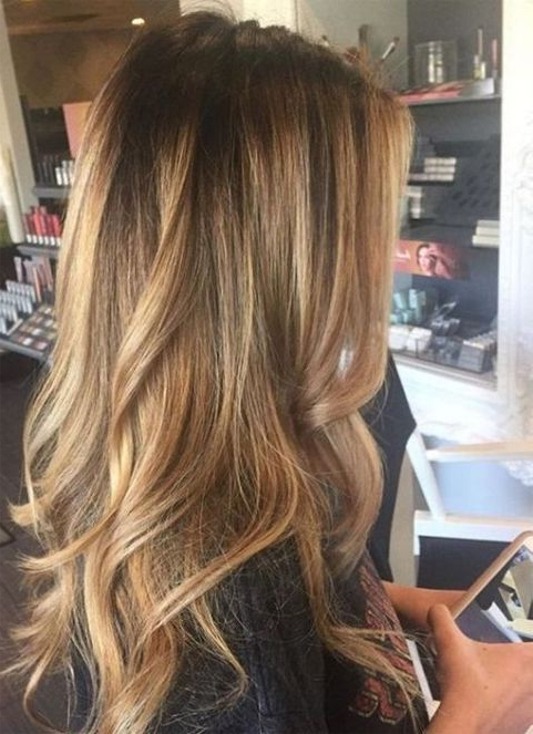 Top 14 Color Ideas For Long Hairstyles 2018 Trends | Hair | Balayage Pertaining To Long Hairstyles With Blonde Highlights (View 3 of 25)