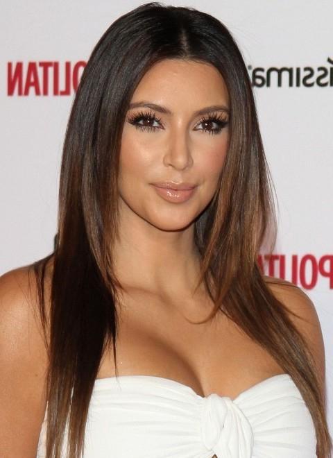 Top 15 Kim Kardashian Hairstyles – Kim Haircuts Pictures – Pretty Pertaining To Long Layered Hairstyles Kim Kardashian (View 3 of 25)